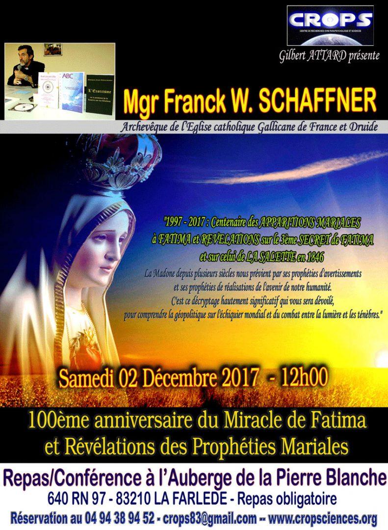 100ème anniversaire de Fatima et prophéties mariales (Monseigneur Franck W. Schaffner)
