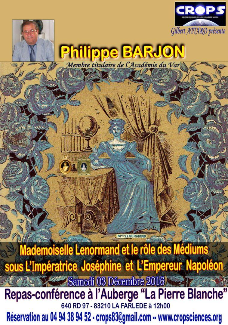 Melle Lenormand et le rôle des médiums sous Napoléon 1er (Philippe Barjon)