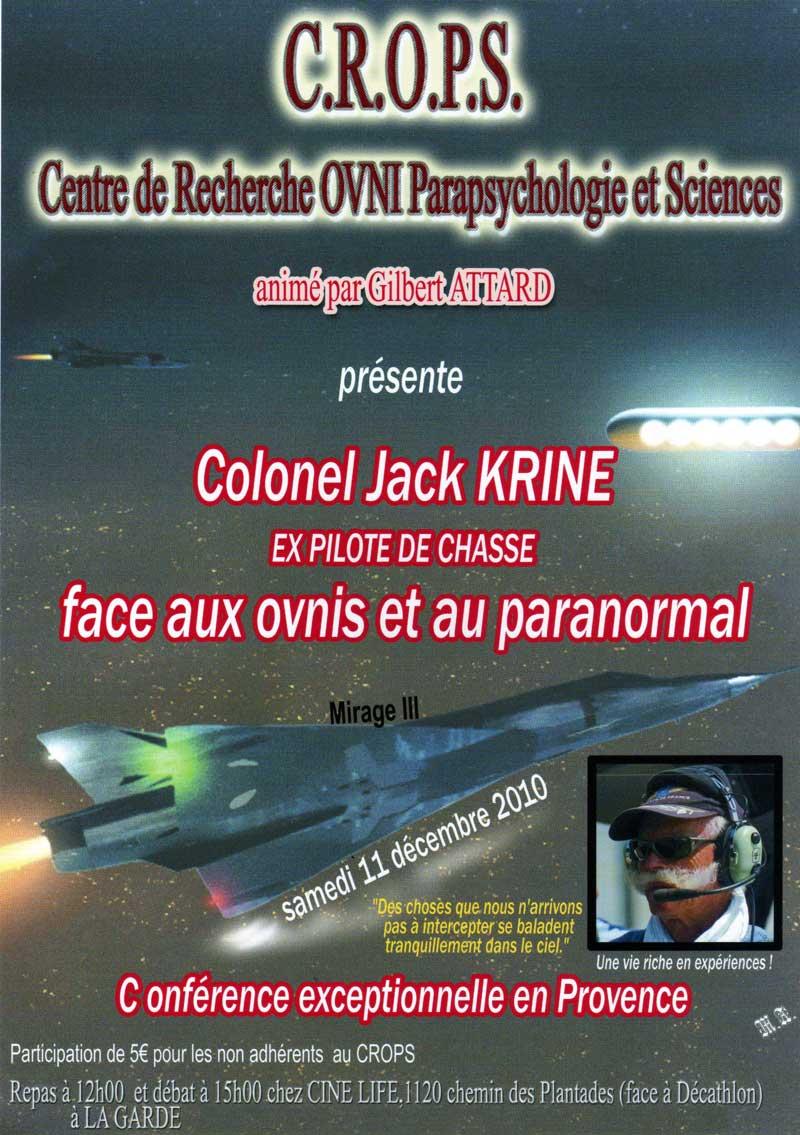 Colonel Jack Krine (Ex pilote de chasse)