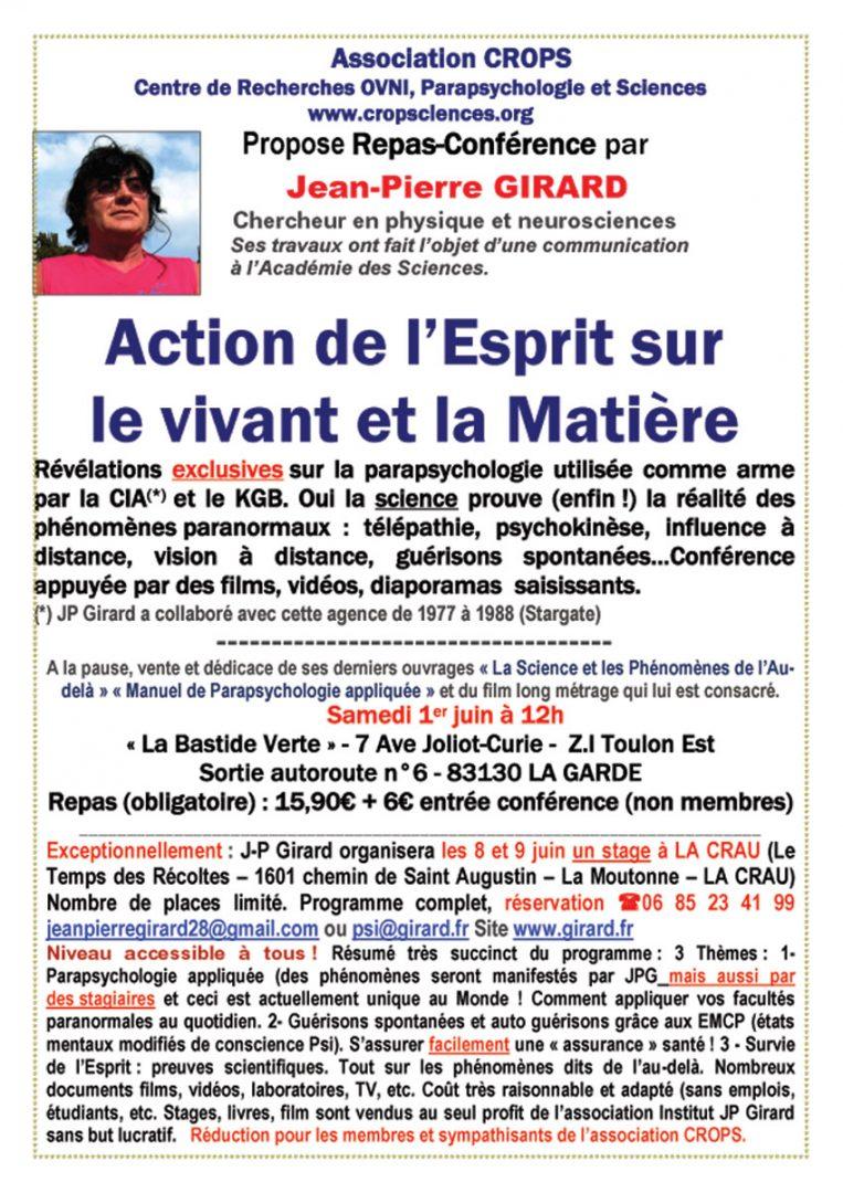 L'Esprit sur la Matière (Jean-Pierre Girard)
