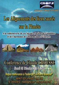 Les Alignements des lieux sacrés sur la planète (Claude Crousse – Géobiologue)