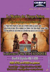 Le mystère des vierges noires (Ode Pactat-Didier)