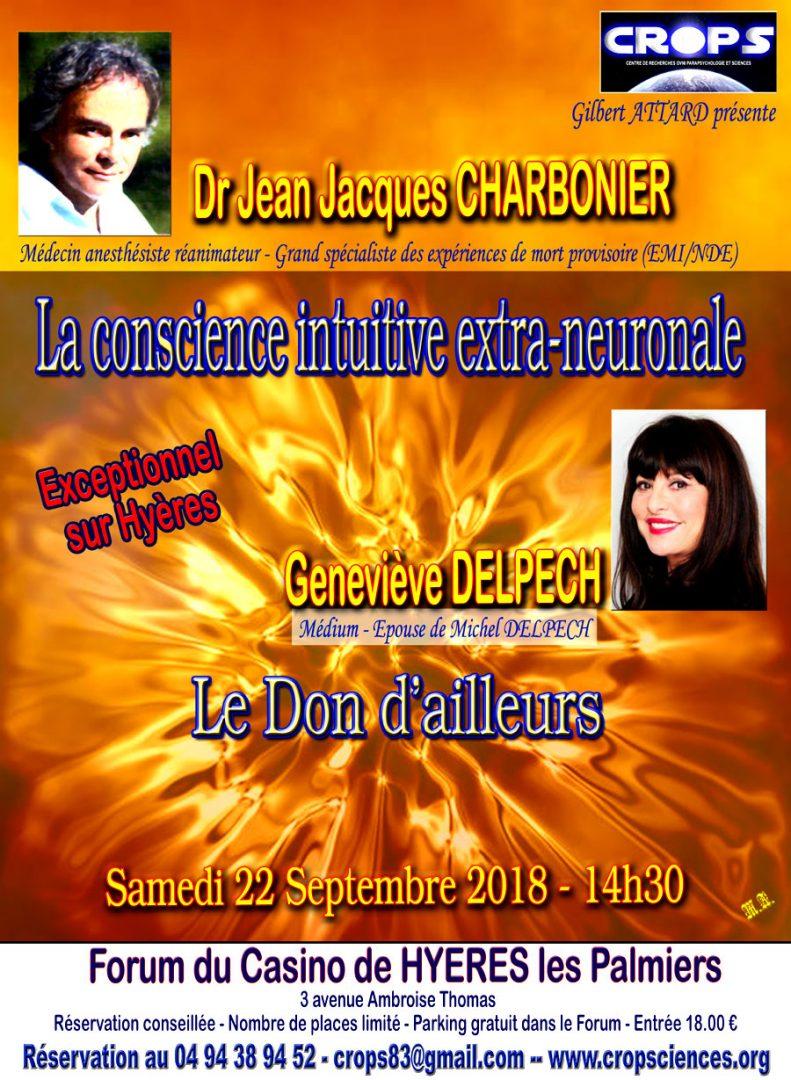 Conférence Dr Jean Jacques CHARBONIER et Geneviève DELPECH
