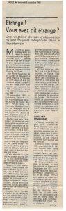 OVNI dans le var – Journal Var Matin du 09 novembre 1990