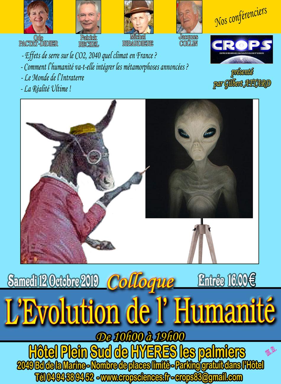 """Colloque """"L'Évolution de l'Humanité"""""""